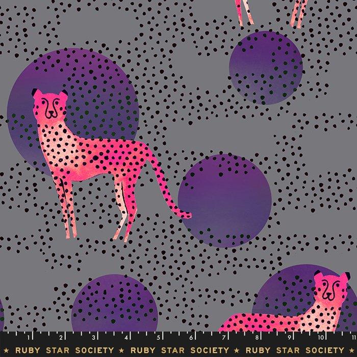 Ruby Star Rayon, Moon Cheetah in Gray
