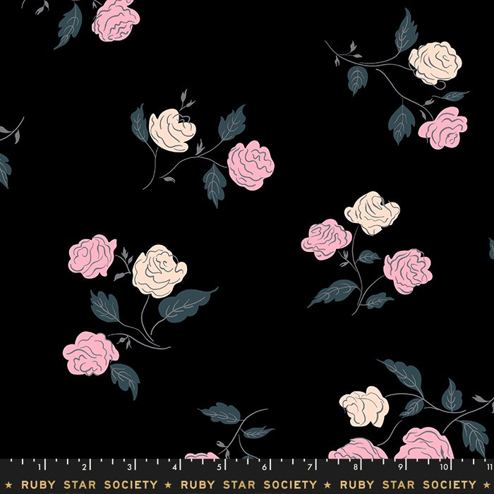 Ruby Star Rayon, Steno Roses in Black
