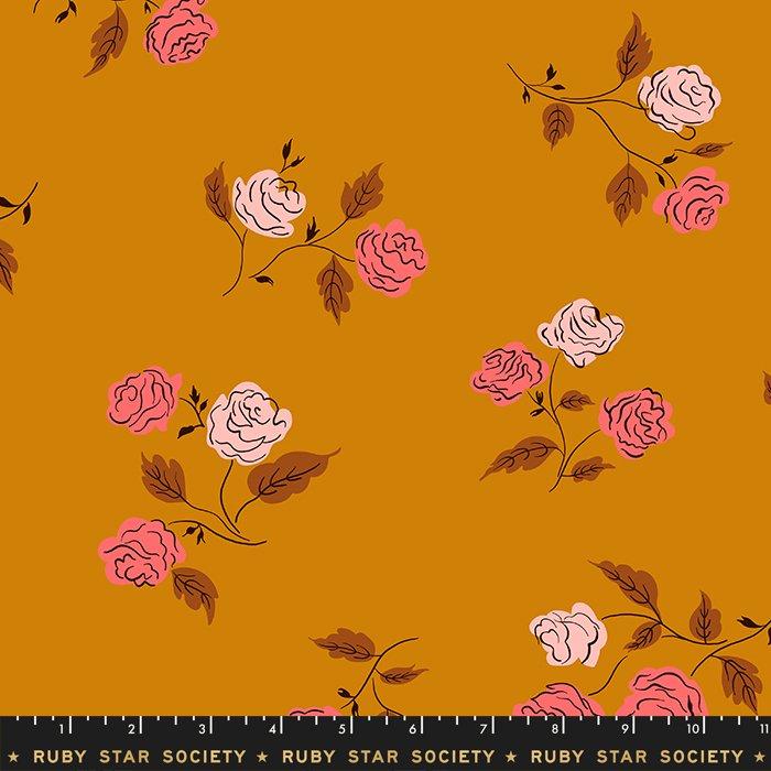 Ruby Star Rayon, Steno Roses in Caramel
