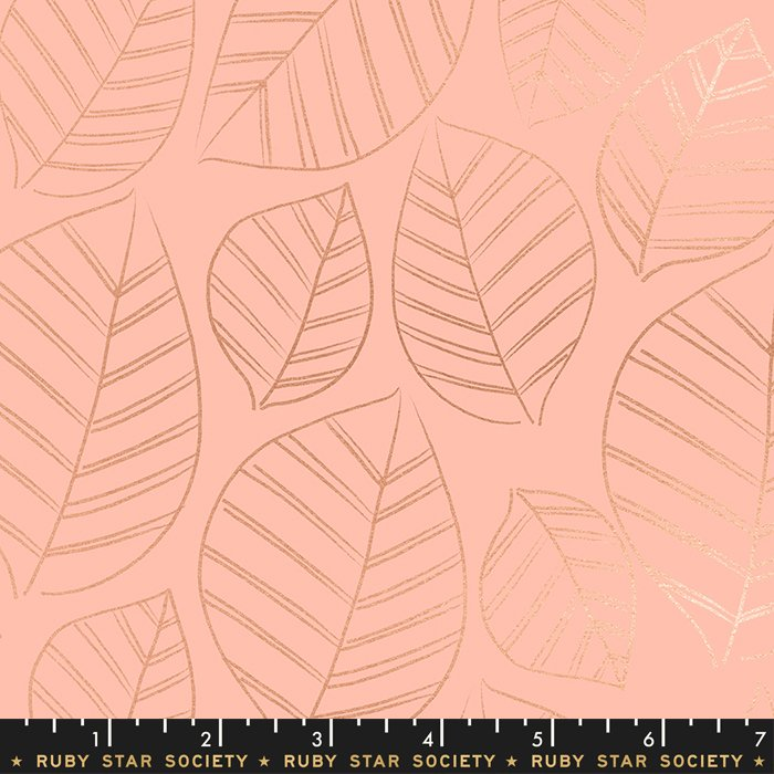 Aviary Leafy Metallic in Peach