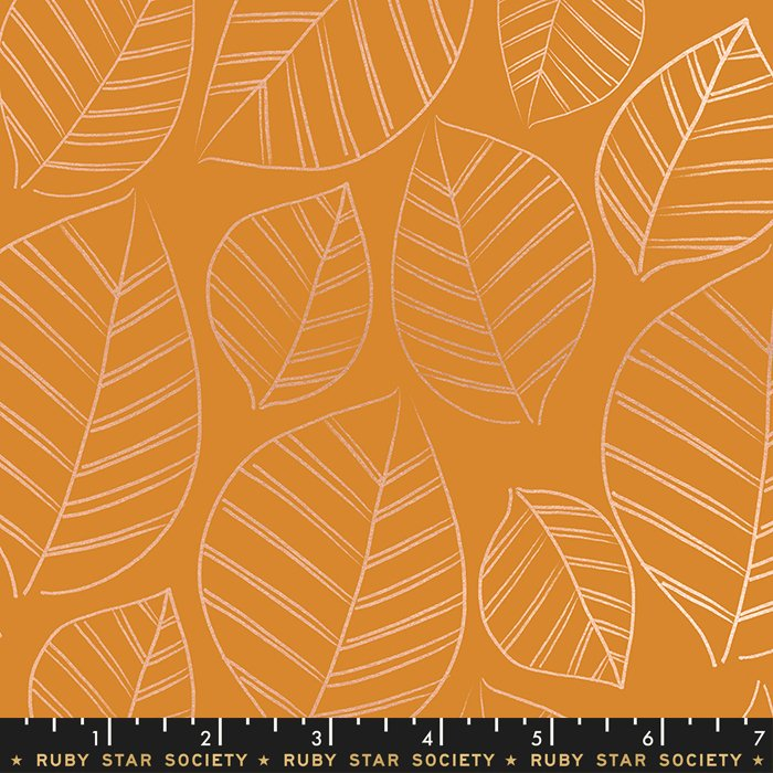 Aviary Leafy Metallic in Caramel