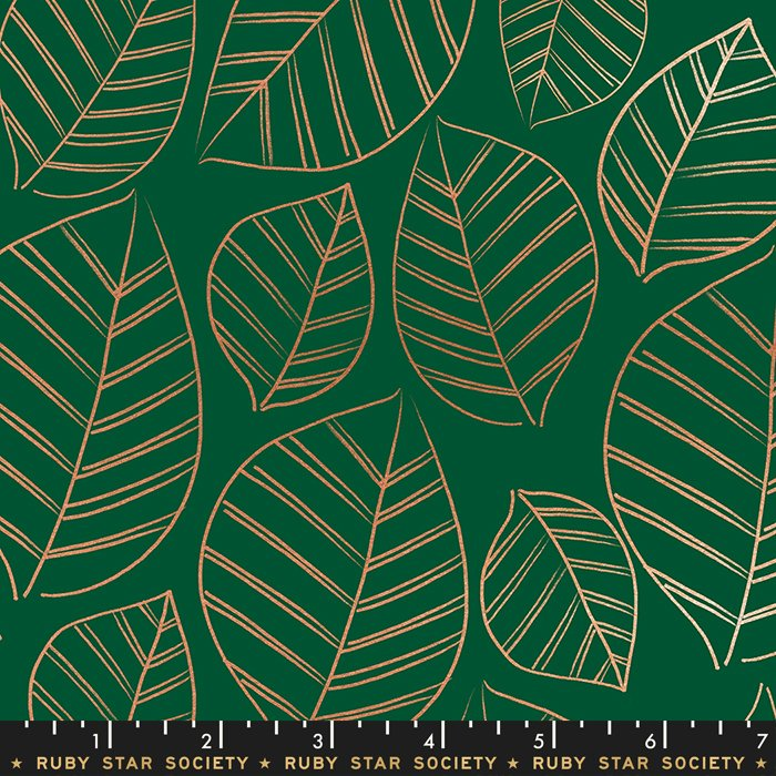 Aviary Leafy Metallic in Jade