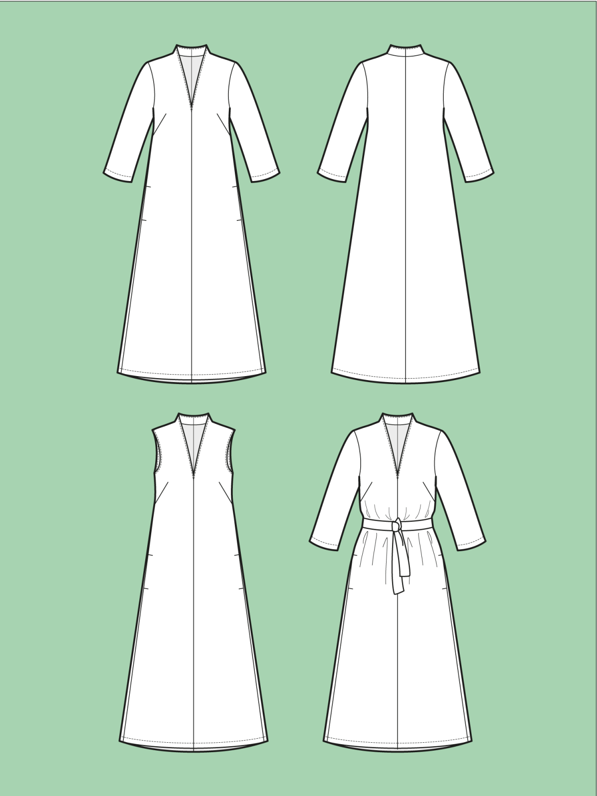 TAL D106 V-Neck Dress