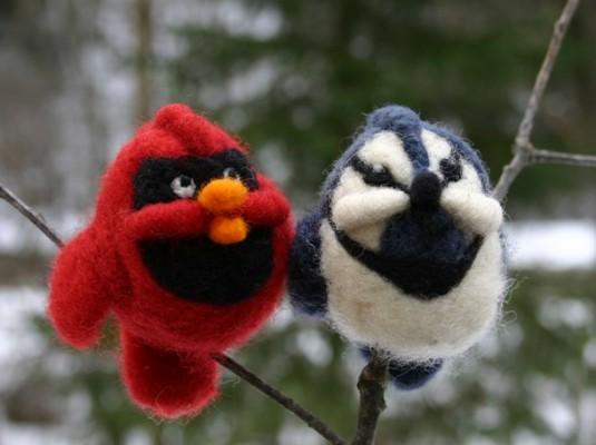 Cardinal & Bluejay Needle Felting Kit