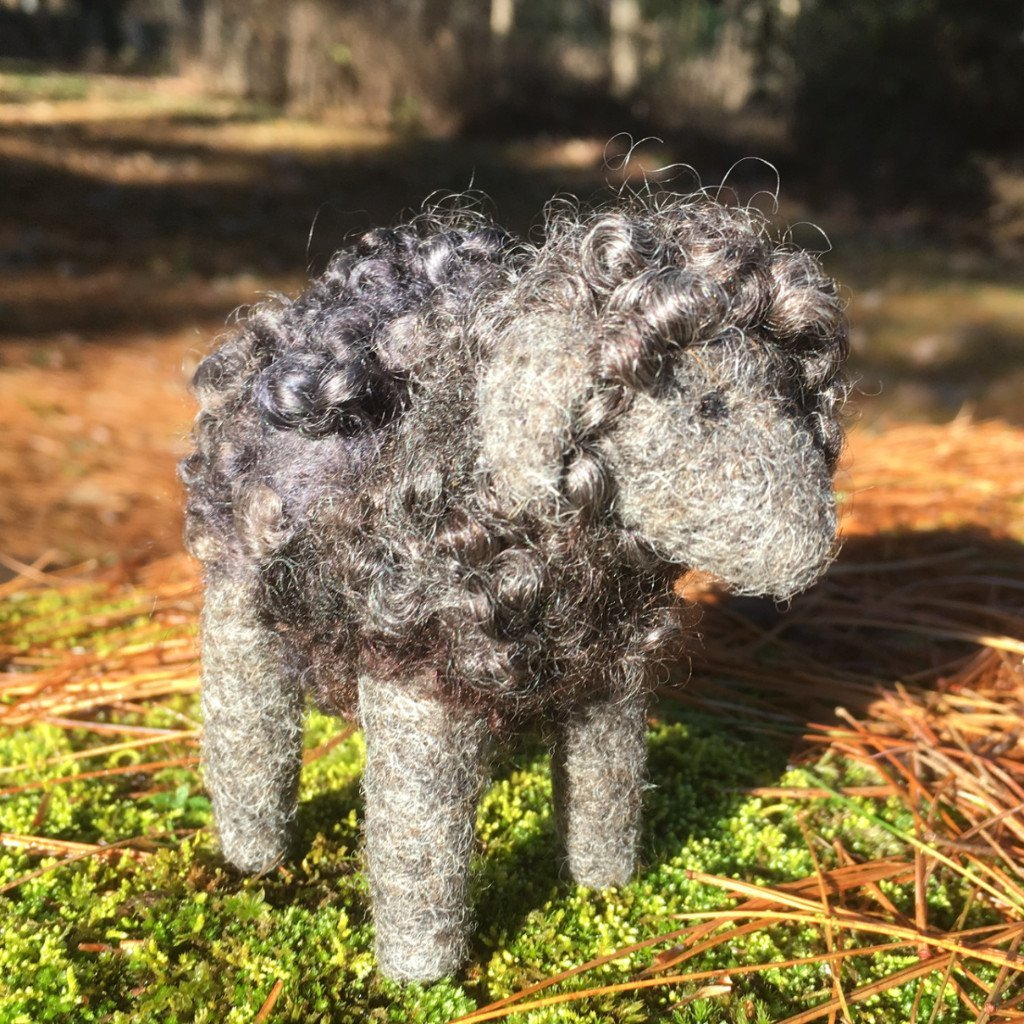 Going Gnome Needle Felting Black Sheep Kit
