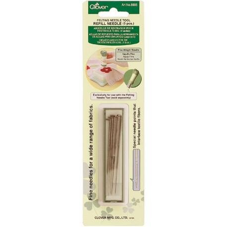 Clover 8905 Needle Felting Tool Refill - Fine Weight Needle