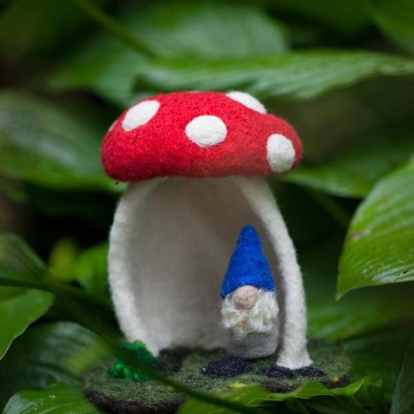 Going Gnome Needle Felting Mini Mushroom House Kit