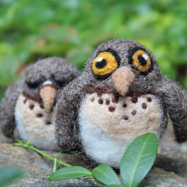 Going Gnome Needle Felting Screech Owl Babies Kit