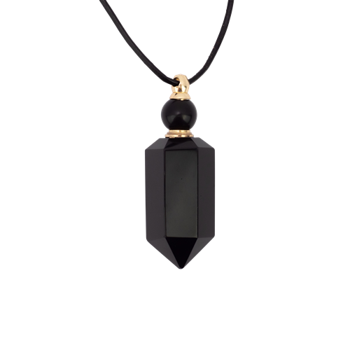Zengo Stone and Crystal Vial Necklace