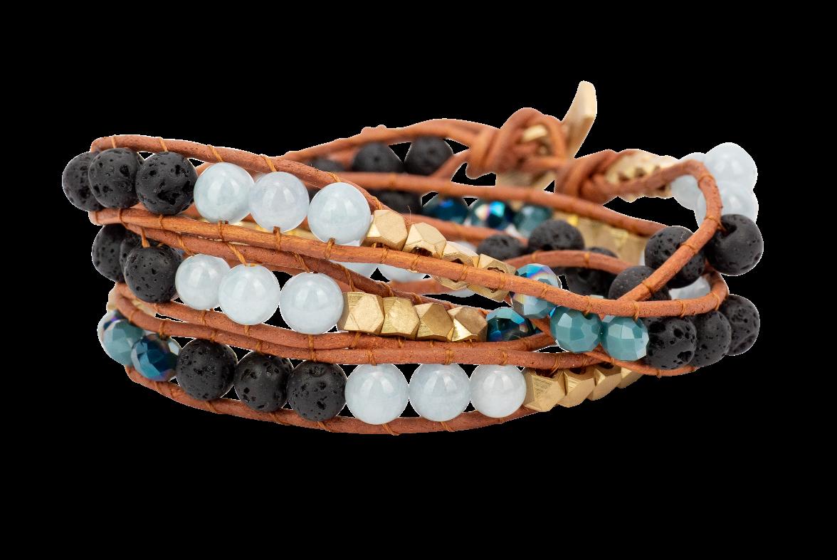 Zengo Aromatherapy Triple Wrap Bracelet