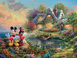Disney Dreams Mickey & Minnie Sweetheart Cove 36in Panel PRE ORDER ONLY