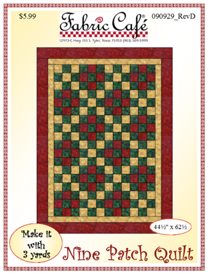 Nine Patch - 3 Yard Quilt / Fabric Cafe