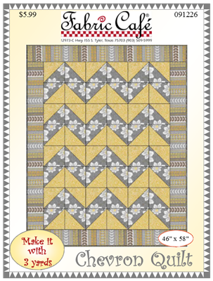 Chevron Quilt  3-yard Quilt / Fabric Cafe / 091226