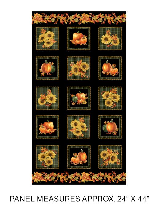 Autumn Elegance -1665M-99  Sq Panel Mult