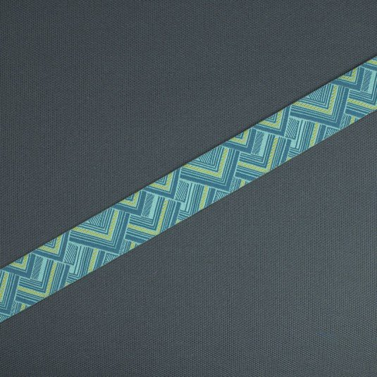 Blue Mighty Corners 7/8 - Amy Butler / Renaissance Ribbon