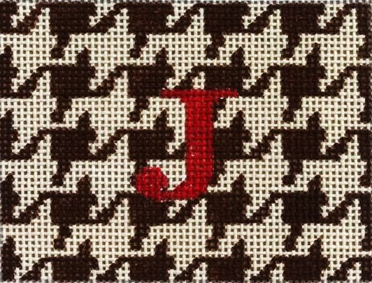 Houndstooth with Initial Tag