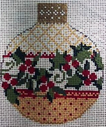 Ornament, Antique Holly Reflection
