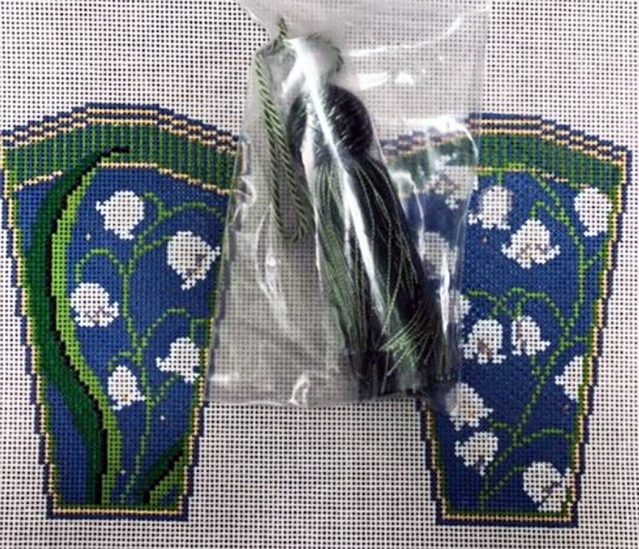 Scissor Case with Tassel, Lily of The Valley