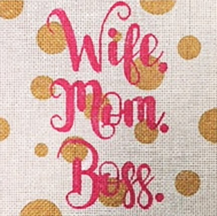 Wife Mom Boss Square