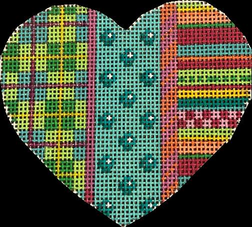 Plaid/Coin Dot/Stripes Heart