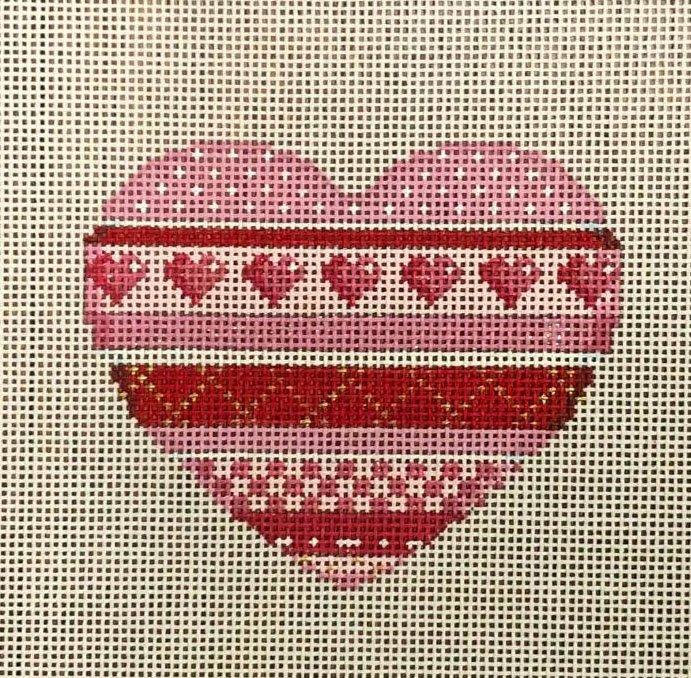 Horizontal Patterns Heart