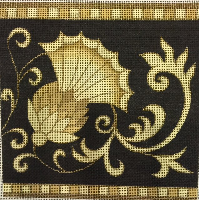 Elegant Gold and Black Thistle