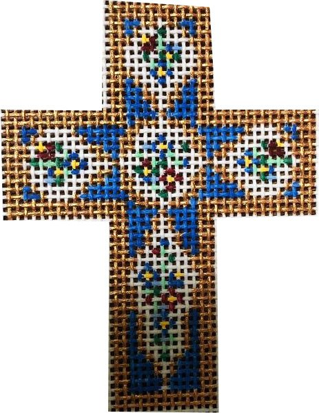 Cross, Cross on  Blue with Medallions