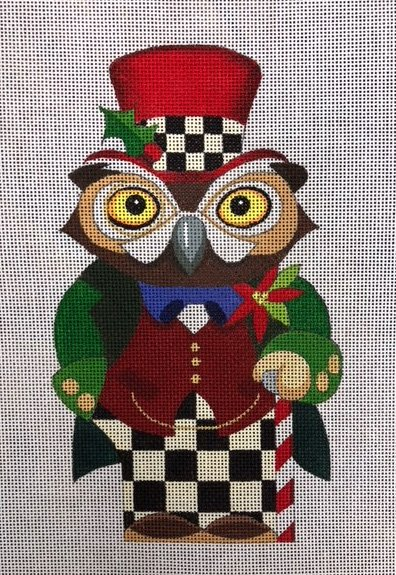 Owl with Checkerboard Pants