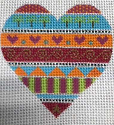 Heart with Abstract Stripes