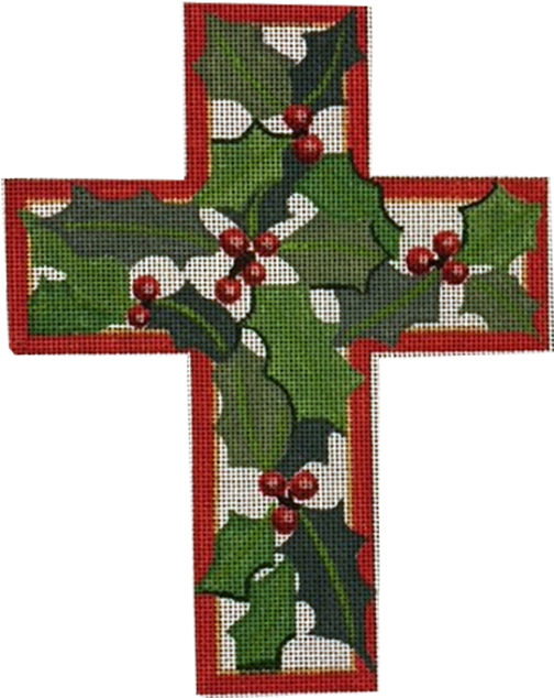 Cross, Christmas Holly