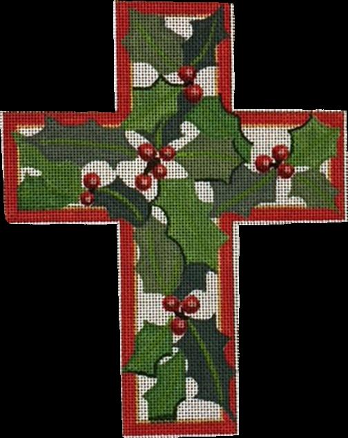 Cross, Christmas Holly