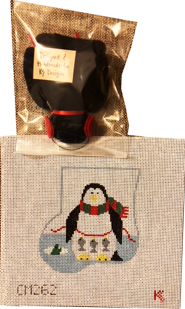 Ornament, Penguin Sock with Stuffed Toy