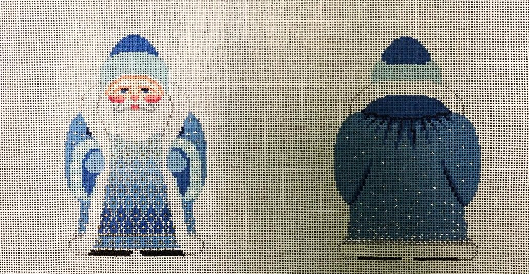Stand-up, Double Sided Santa, Snowflake Coat
