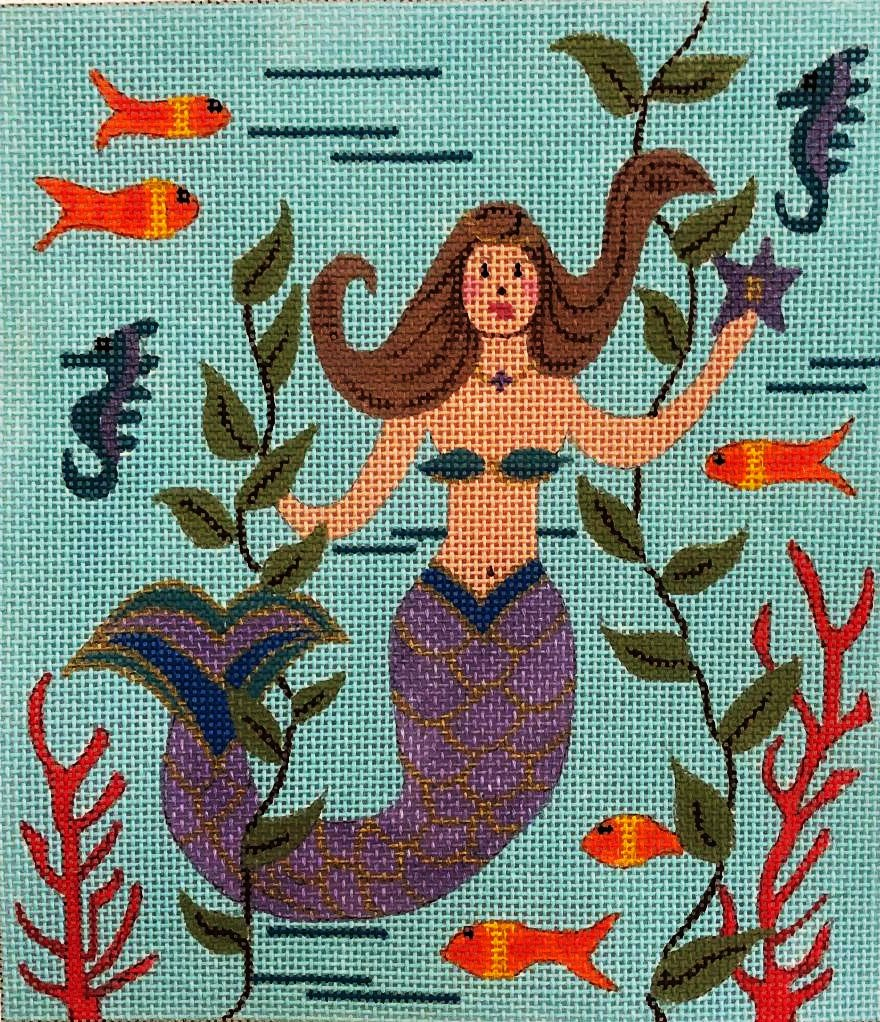 Mermaid with Purple Tail