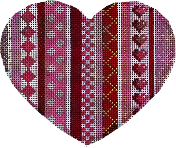 Vertical Patterns Lg. Heart