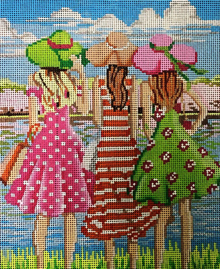 Three Girls in Spring