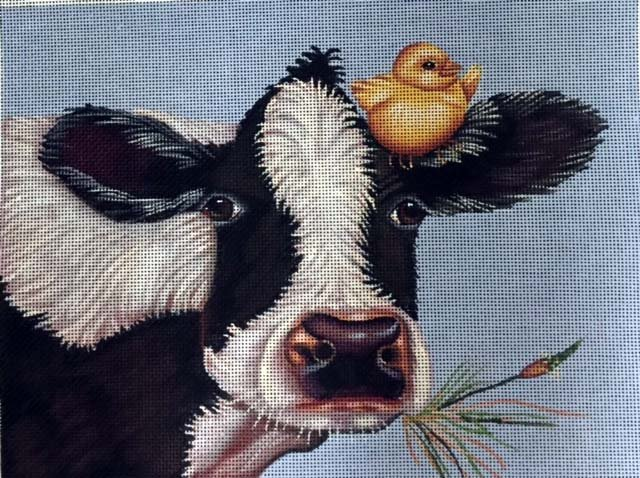 Cow with Yellow Bird