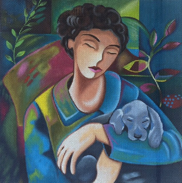 Lady with Puppy