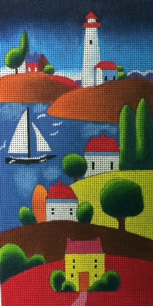 Colorful Coastal Scene