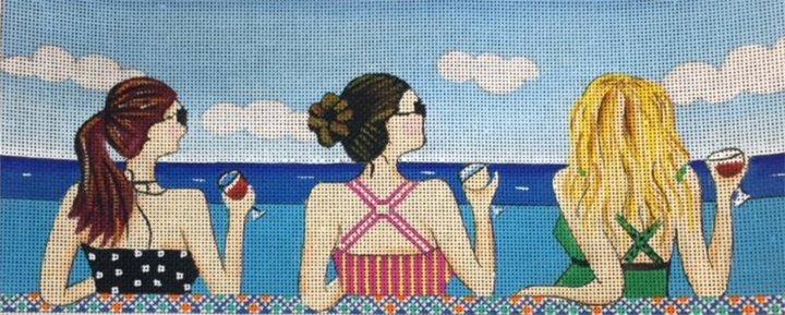 Three Ladies at Beach