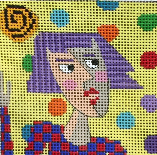 Penny McLeod Lady with Purple Hair
