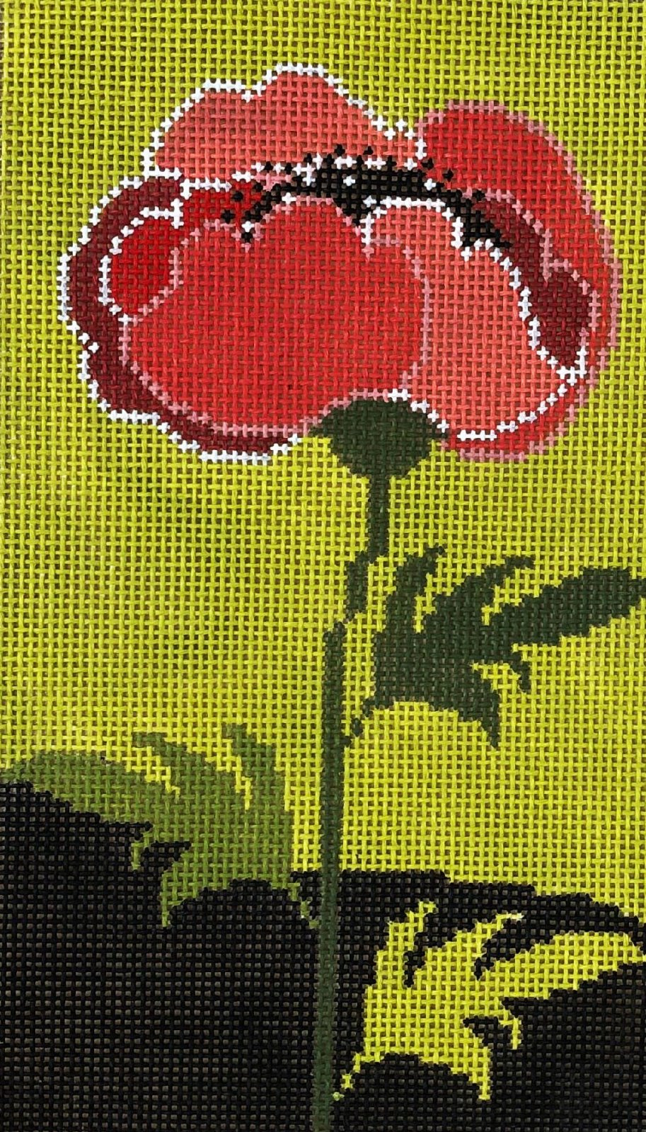 Poppy on Bright Green