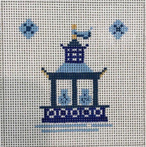 Blue Pagoda Blue Vases