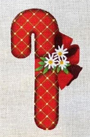 Ornament, Candy Cane, Red Trellis