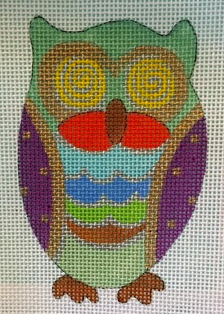 Owl with Jewel Colors