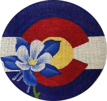Blue Flower Round