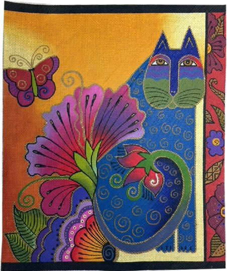 Danji Cat, Flowers and Butterfly