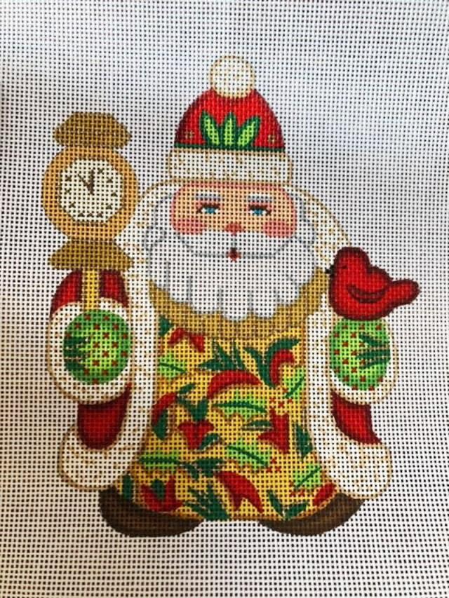 Ornament, Mini Clock and Cardinal Santa