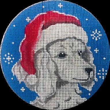 Ornament, Santa Poodle