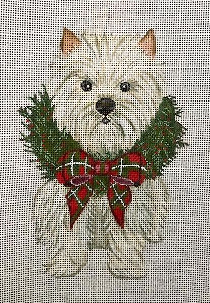 Ornament, Wreath Pup-Westie